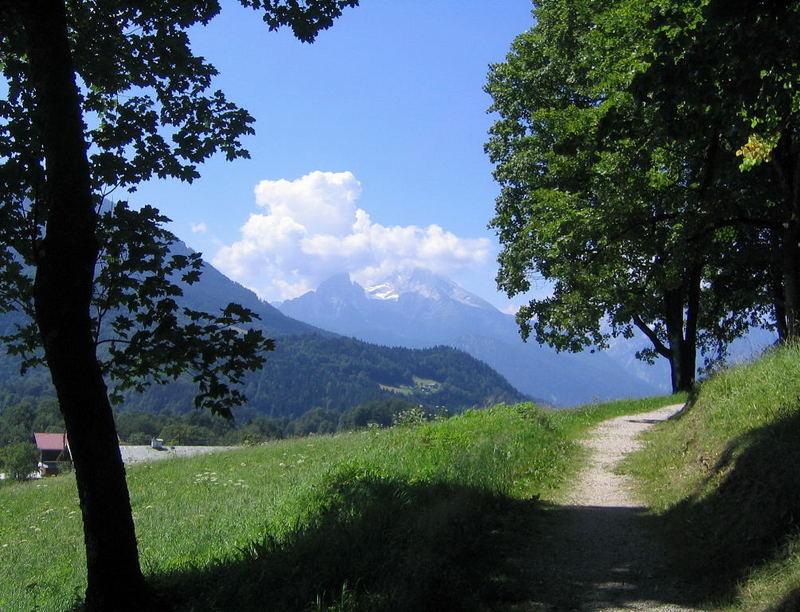 Watzmann, von Oberau aus gesehen