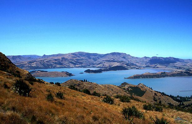 Way to Akaroa Neuseeland
