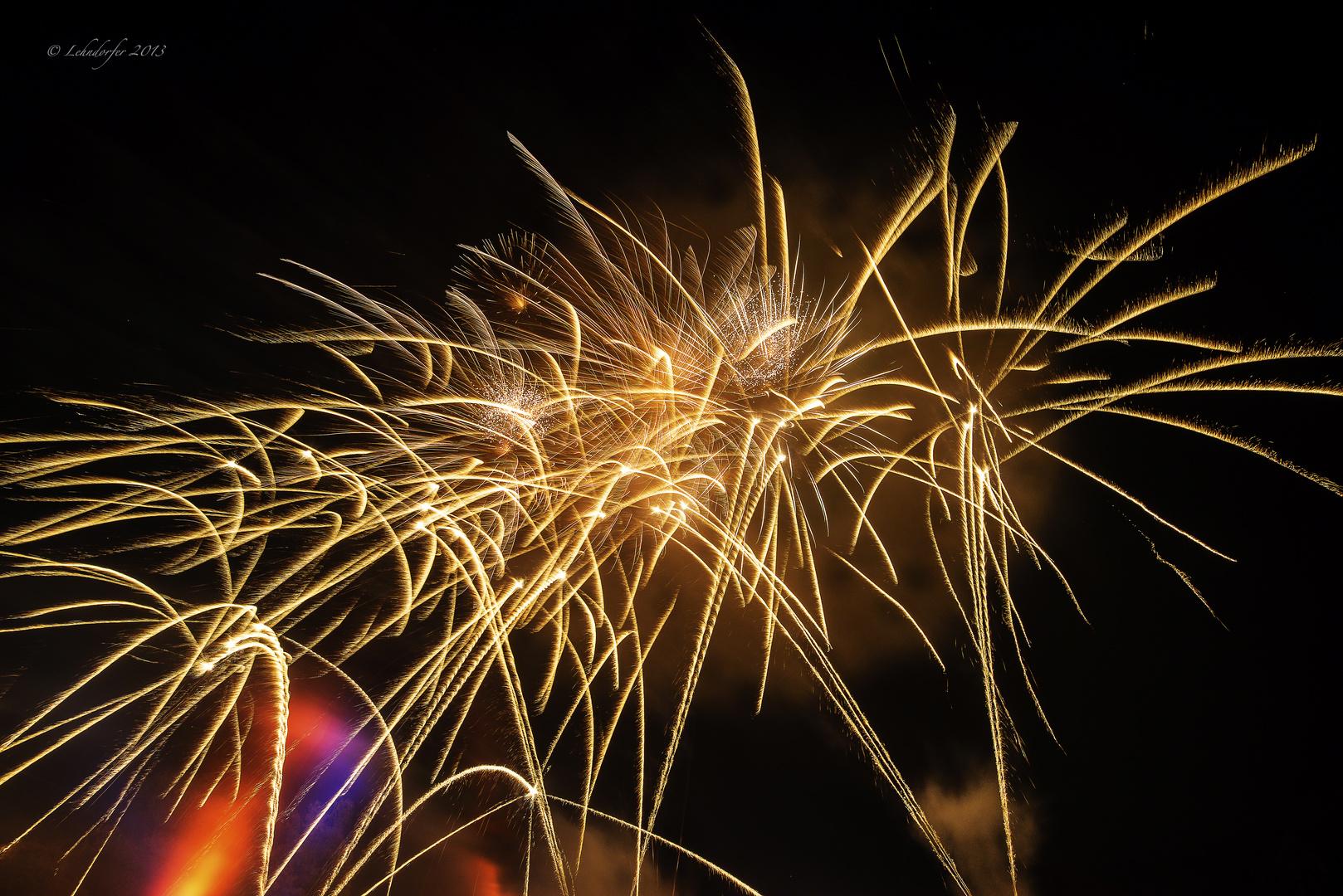 we had some fireworks last night