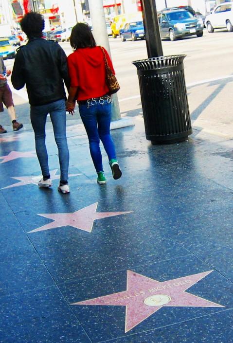 We walked all over LA