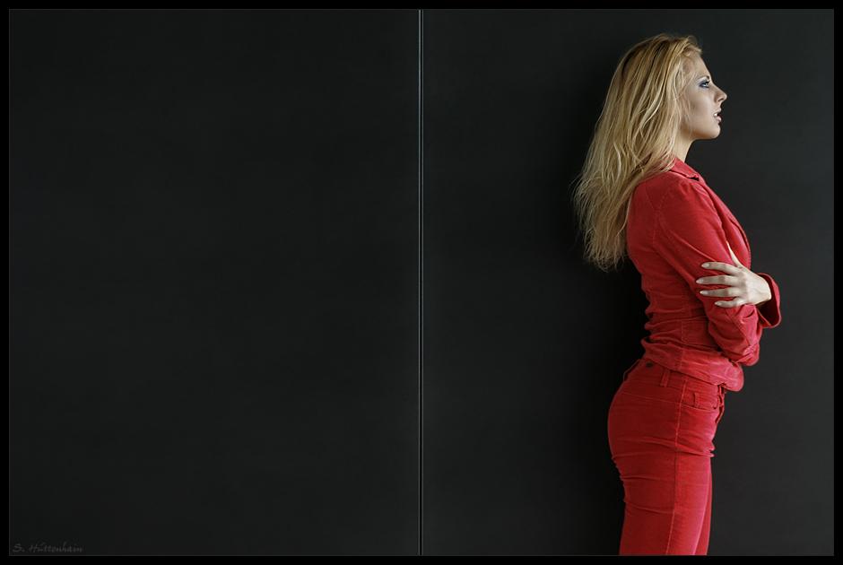 - wearing red II -