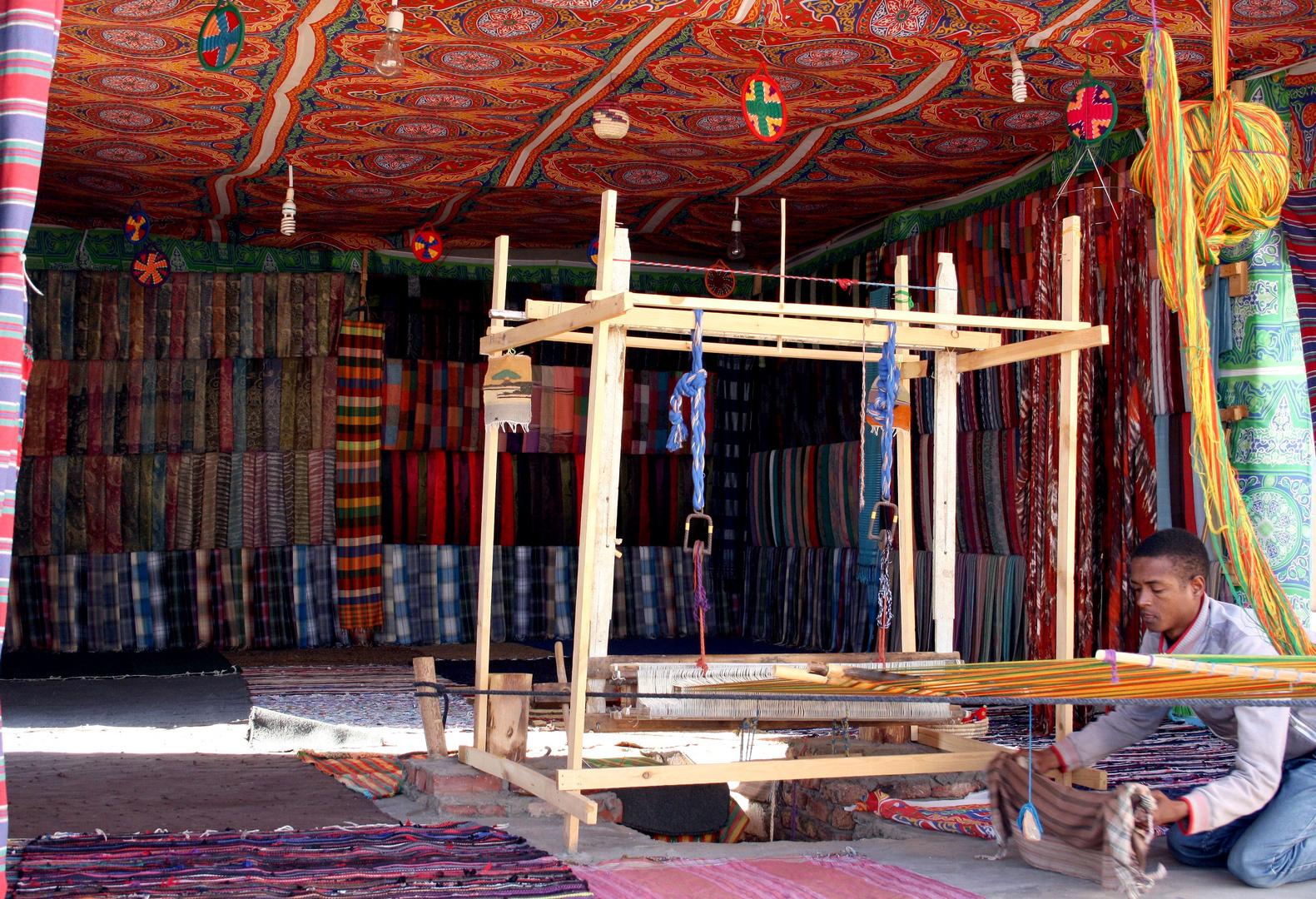 Weberei in einem nubischen Dorf