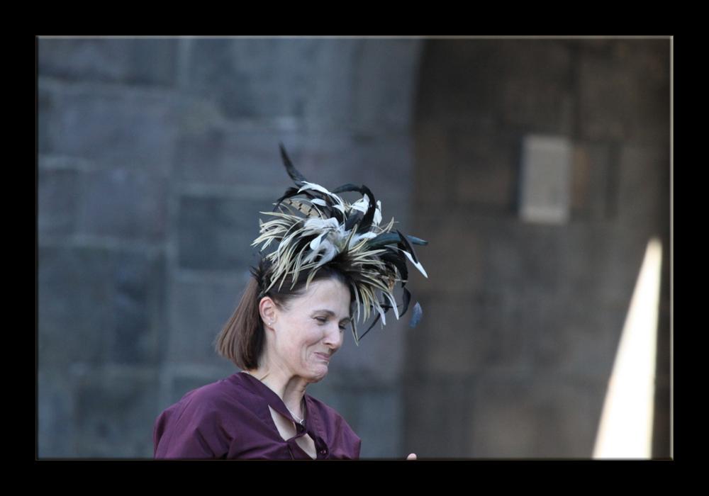 Wedding in St. Andrews (nice hat)