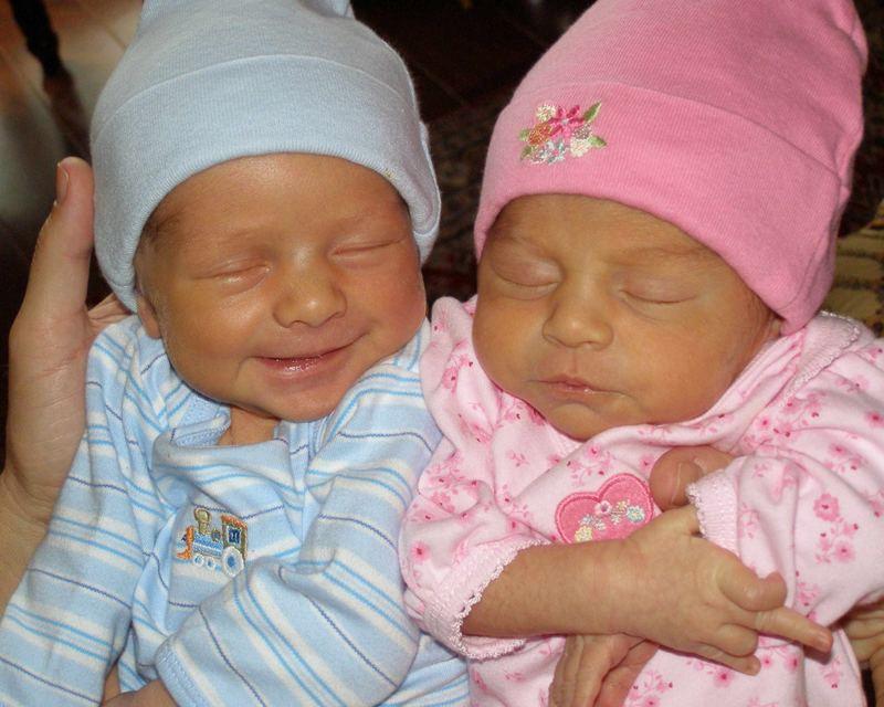 Week Old Twins