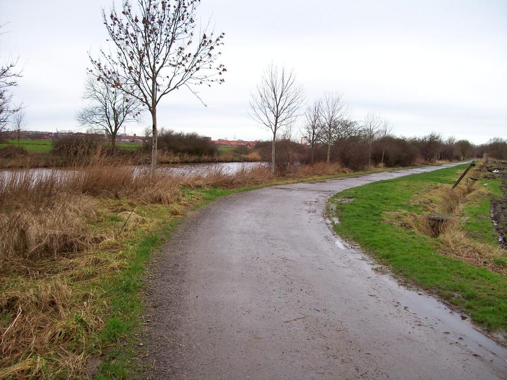 Weg am Kanal Borssum -Hilmarsum