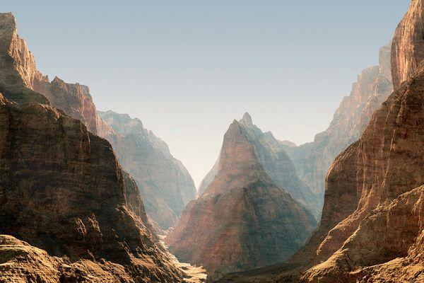 Weg durch den Canyon
