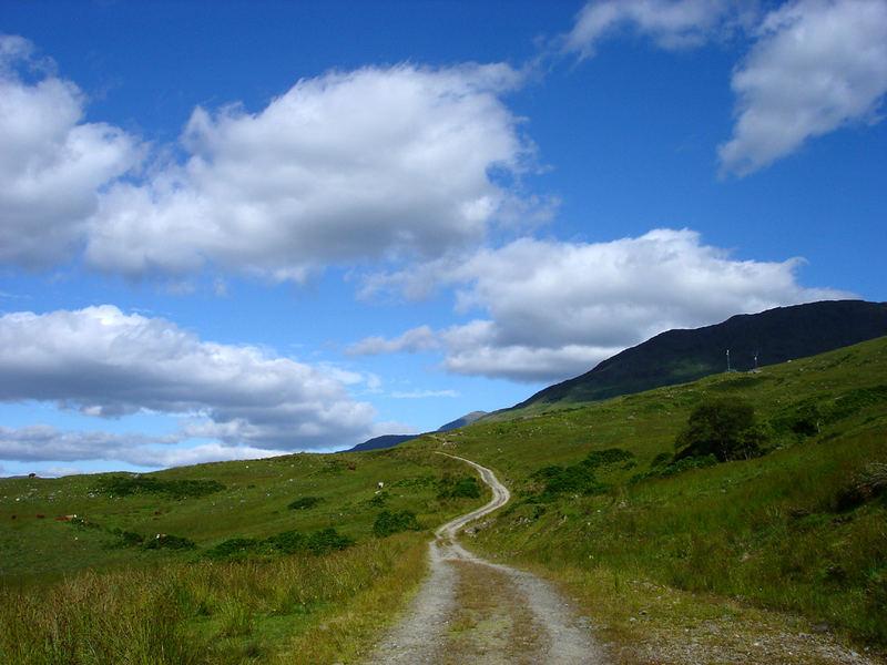 Weg durch die Highlands