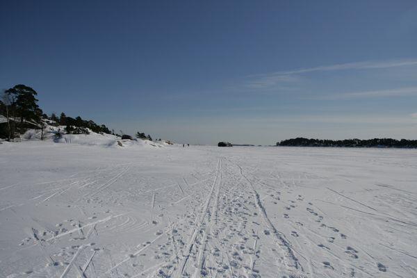 Weg über's Eis