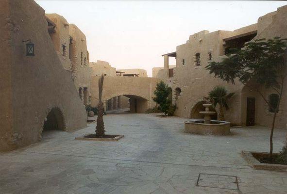 Weg zum Dorfplatz in Jordanien