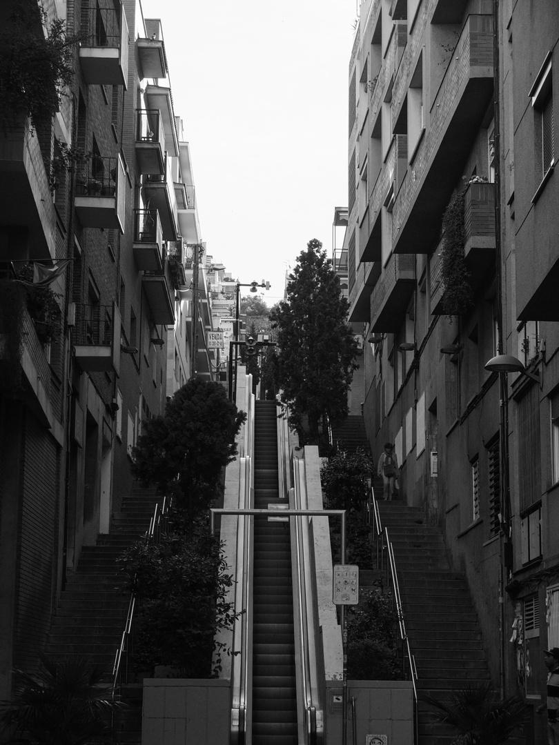 Weg zum Parc de Guell