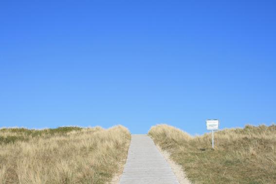 Weg zum Strand auf Spiekeroog