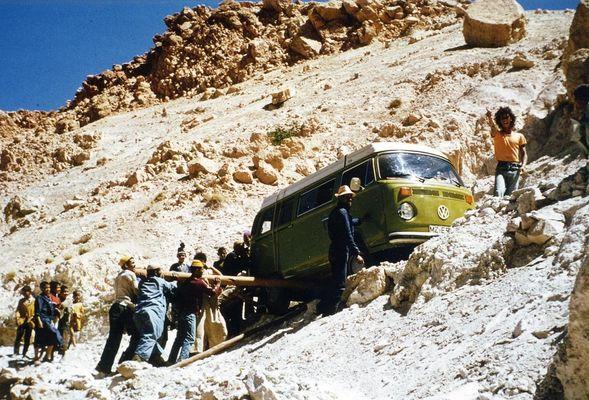 Wege in den Bergen sind gefährlich