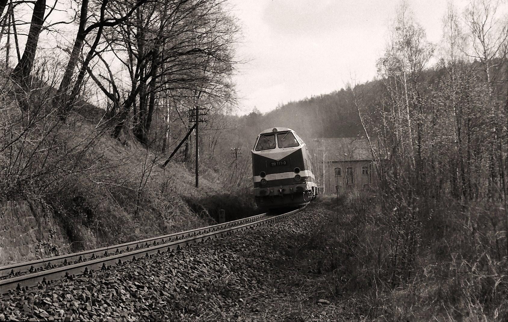 Wegen  einer Streckensperrung in Riesa  ...