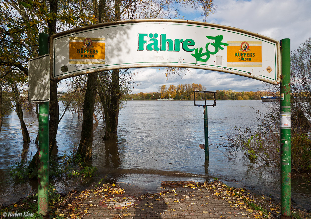 wegen Hochwasser ausser Betrieb
