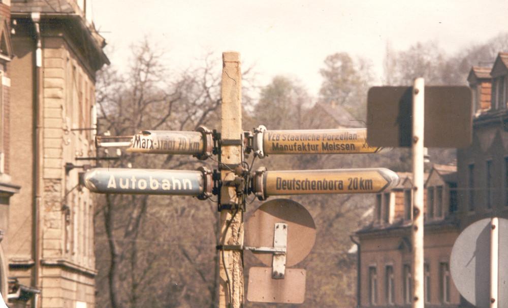 Wegweiser in Meissen