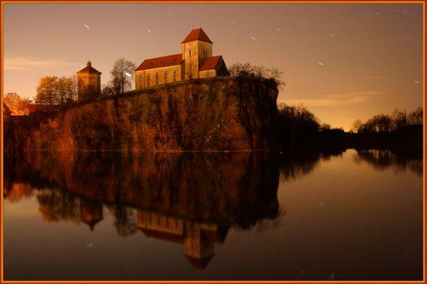 Wehrkirche bei Nacht!