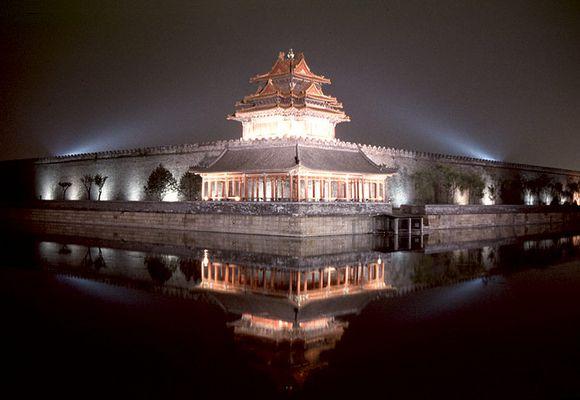 Wehrturm an der Verbotenen Stadt in Peking