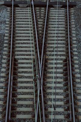 Weiche am Bahnhof Bamberg