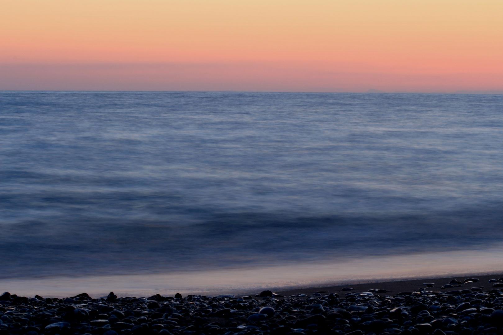 weicher Sonnenuntergang