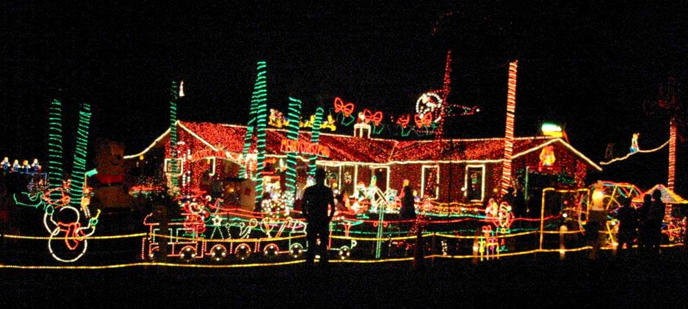 Weihnacht in Florida Hausbeläuchtung