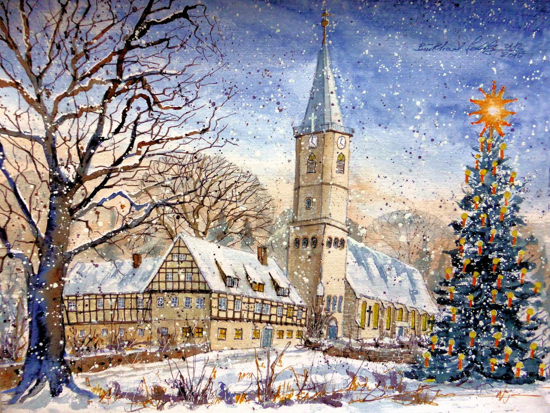 weihnachten in niederbobritzsch sachsen mit kirche und. Black Bedroom Furniture Sets. Home Design Ideas