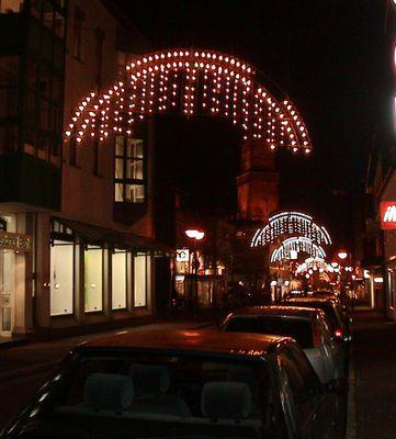 Weihnachtliche Stadtimpression