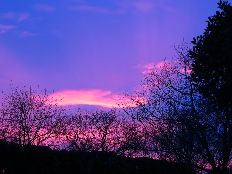 Weihnachtlicher Sonnenuntergang 2013