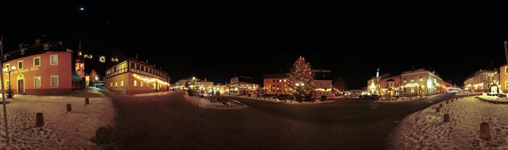Weihnachtlicher Zwönitzer Markt 360°