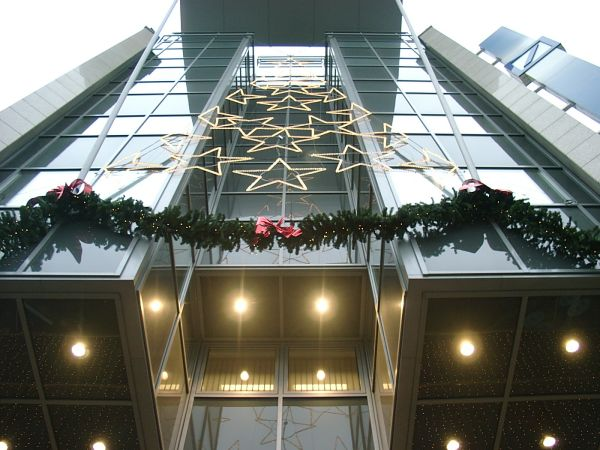 Weihnachtliches Citi Carre in Magdeburg