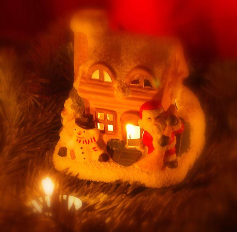 weihnachtliches Knusperhäuschen