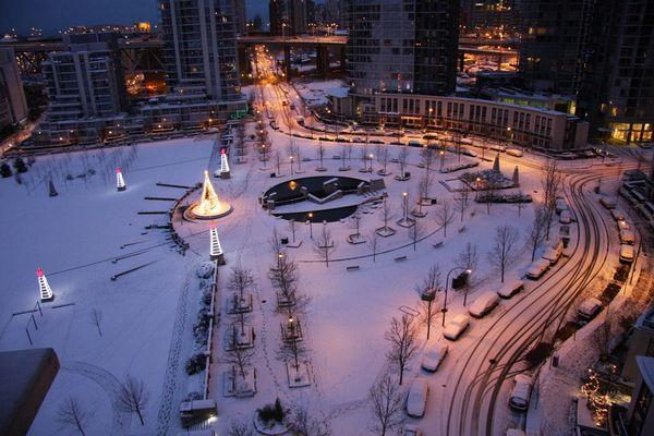 weihnachtliches Vancouver... George Wainborn Park