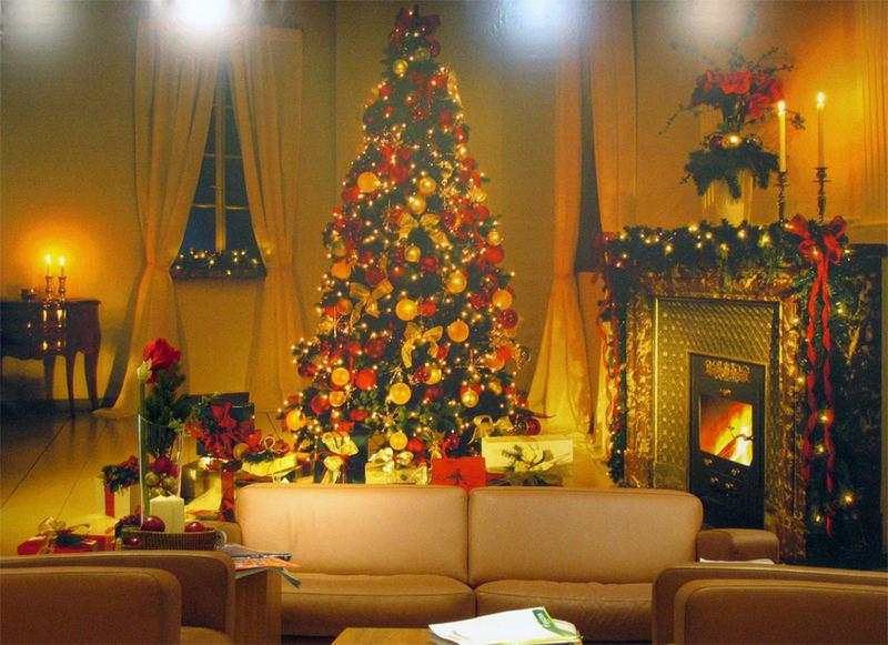 weihnachtliches wohnzimmer bild foto von wolfgang. Black Bedroom Furniture Sets. Home Design Ideas