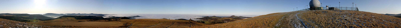 Weihnachts-Inversions-Panorama Wasserkuppe Rhön
