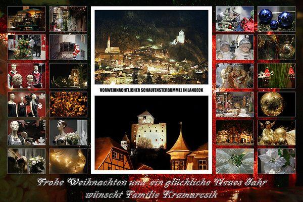 Weihnachts- und Neujahrsgrüße von Helene und Günter