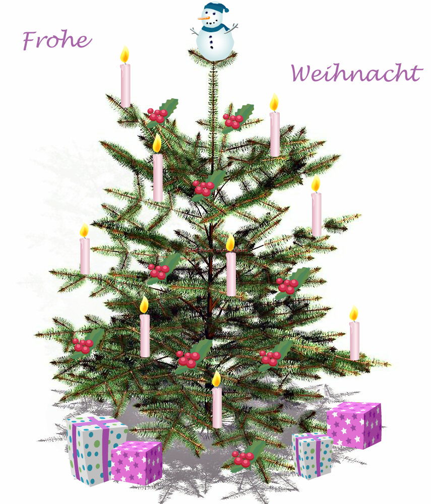 weihnachtsbaum geschm ckt foto bild gratulation und. Black Bedroom Furniture Sets. Home Design Ideas
