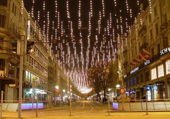 Weihnachtsbeleuchtung Bahnhofstrasse Zürich