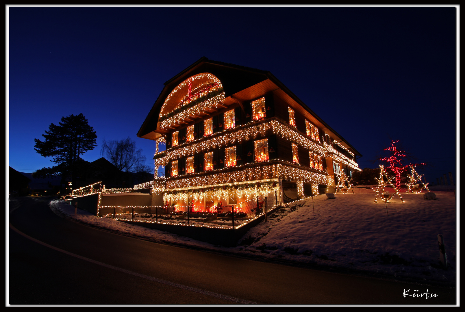 weihnachtsbeleuchtung foto bild karten und kalender weihnachtskarten thun bilder auf. Black Bedroom Furniture Sets. Home Design Ideas