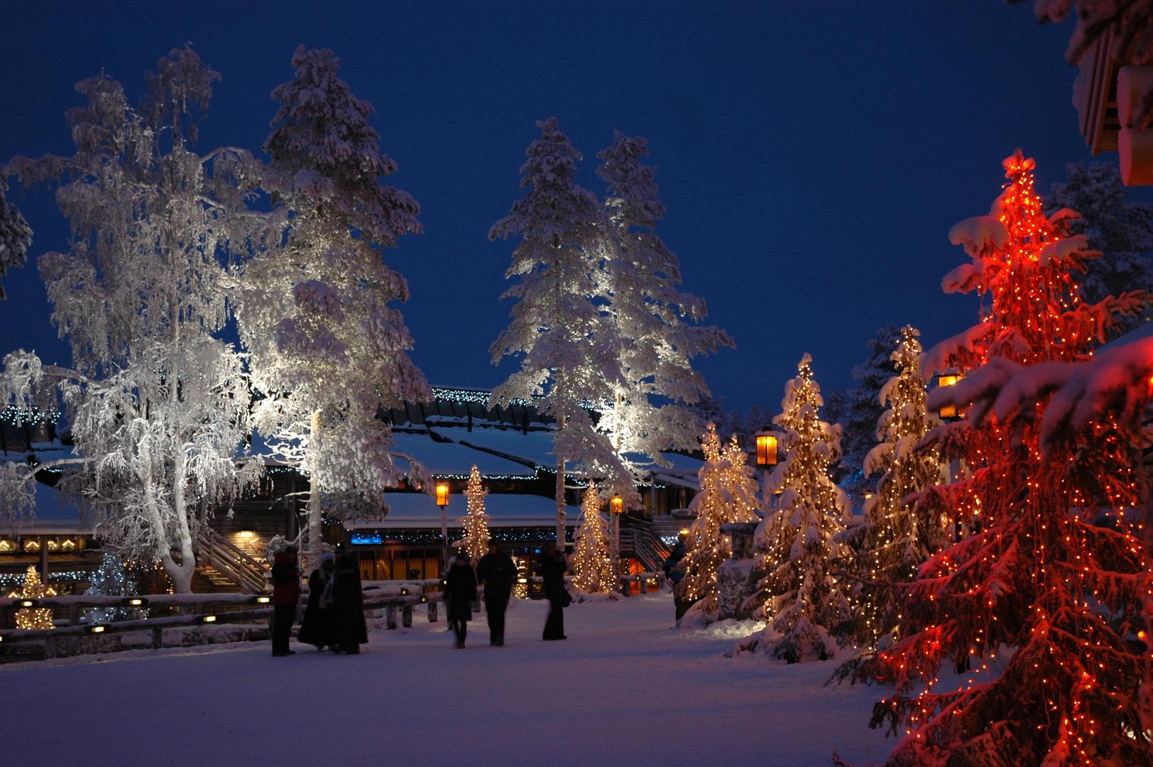 Weihnachtsdorf am Polarkreis