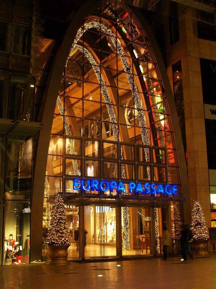 Weihnachtseingang Europa-Passage
