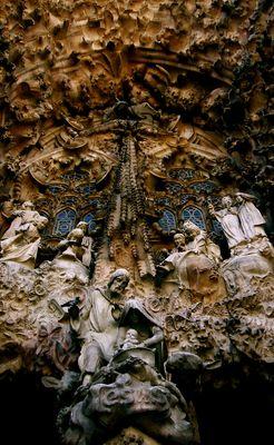Weihnachtsfassade der Sagrada Familia