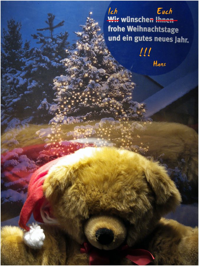 Weihnachtsgrüße (Mitbringsel von der Schaufenster - Tour)
