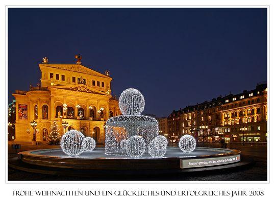 Weihnachtsgruß aus Frankfurt am Main