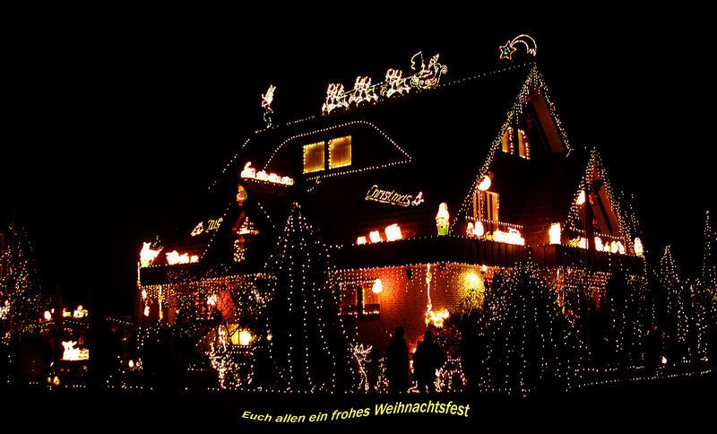Weihnachtshaus in Hilden (2)