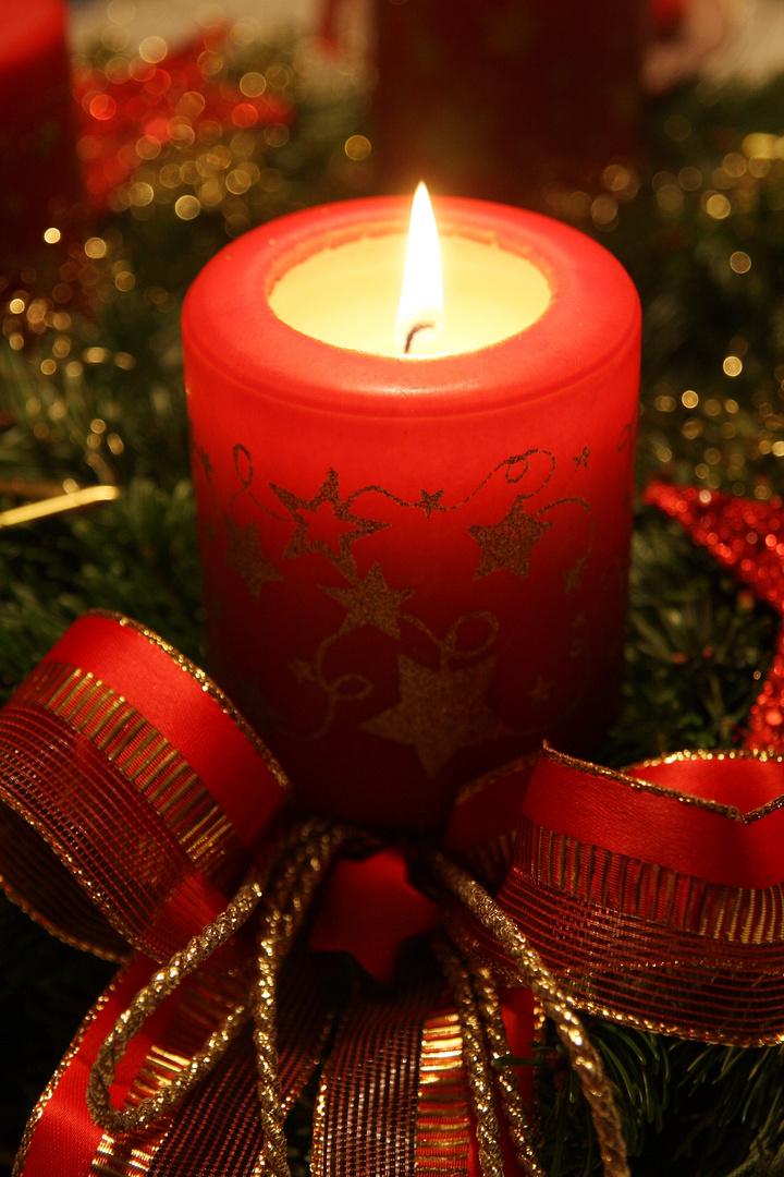 weihnachtskerze foto bild gratulation und feiertage. Black Bedroom Furniture Sets. Home Design Ideas