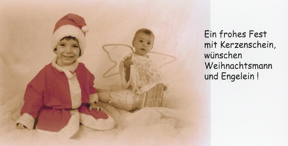Weihnachtsmann und Engelein