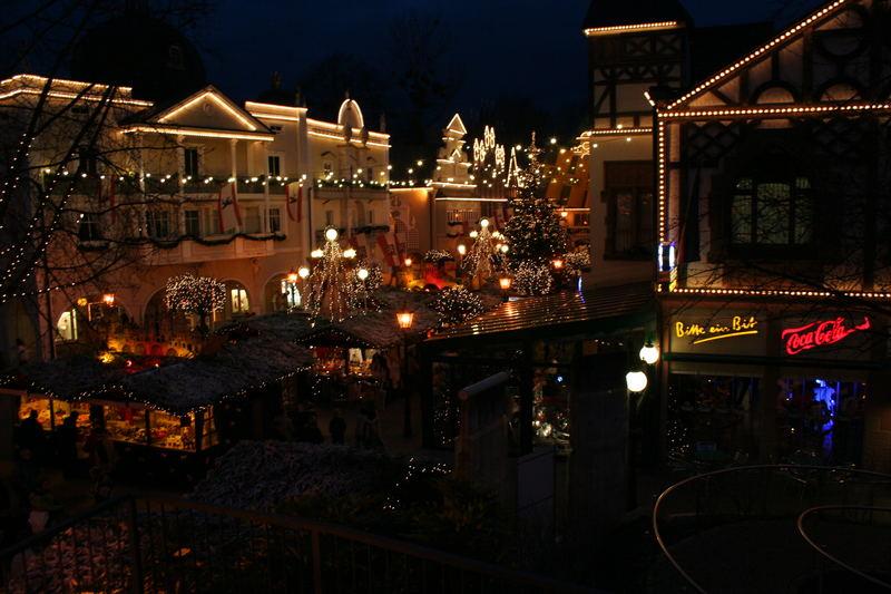 Weihnachtsmarkt im Europapark Rust