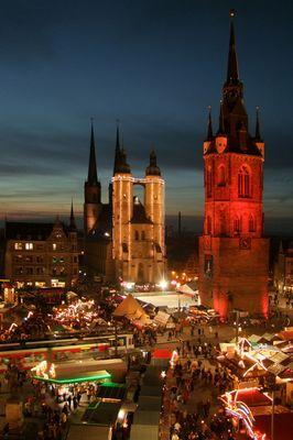 Weihnachtsmarkt in Halle/S 2009