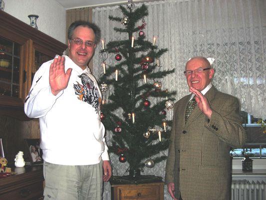 Weihnachtsportrait: Ich und mein Onkel Fritz