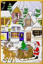 Weihnachtsstadt in 3 D
