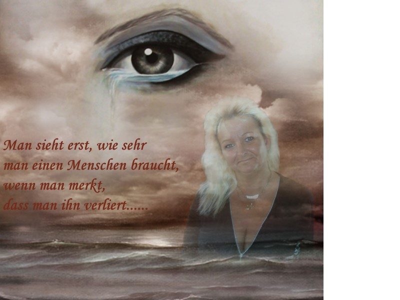 weinendes Auge....